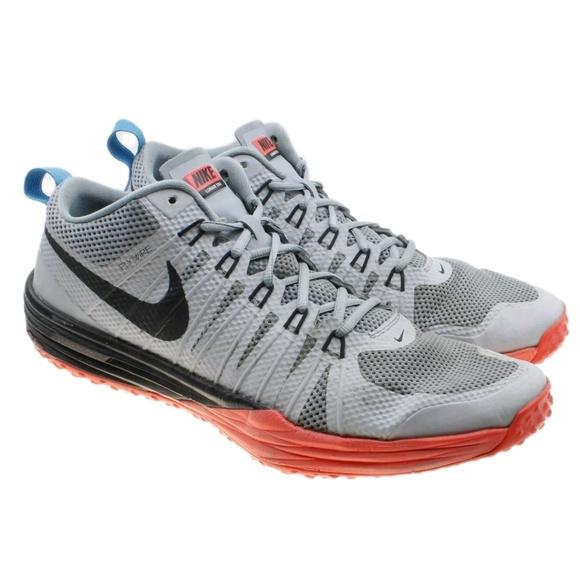 size 40 3acd4 ad64c Nike Lunar TR1 Gray Orange Flywire Sneakers. M 5c11e9ea04e33d5d587d00fe